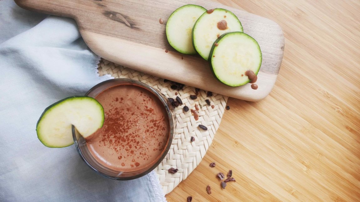 Recette de lait chocolat-courgette