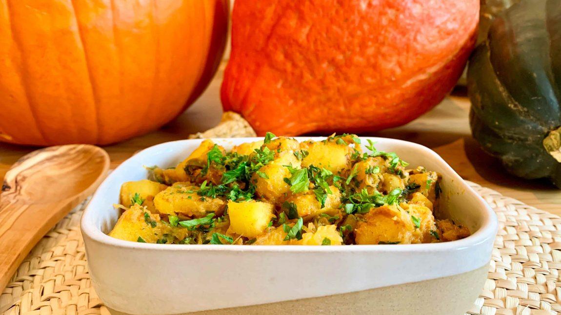 Recette de courges sautées aux olives et citron confit
