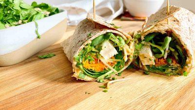 Recette de wrap aux légumes et baba ghanouj maison